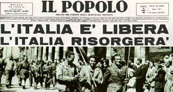 25 APRIL  Liberation Day ….  a day to commemorate the freeing of Italy and the Italians from the Fascist and Nazi regimes and the return of the few very fortunate survivors of th…